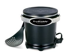 $29.99  Amazon.com: Presto 05420 FryDaddy Electric Deep Fryer: National Presto Cooker Staff: Home & Kitchen--I've actually never deep fried anything myself before, but I think a deep fryer is a nice thing to have for parties (fried zucchini, tempura, corn dogs, etc, etc, etc). Plus, my dad has an amazing recipe for Japanese-style deep fried chicken that I simply must learn how to make.  The price is very affordable, too.