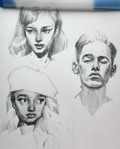 Pin by mariela valdivia on drawing, painting & graphic desig Arte Sketchbook, Sketchbook Inspiration, Art Challenge, Pablo Picasso, Portrait Art, Cool Drawings, Art Inspo, Art Sketches, Painting & Drawing