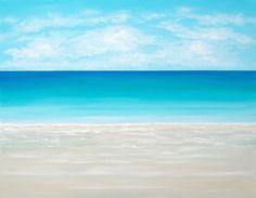 beach painting | Beach Painting Ocean Painting Modern Beach Art Contemporary Abstract ...