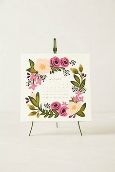 2014 Calendar & Easel #anthropologie