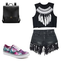 """under 80$ !!! party everiday from rosegal ✨"" by terlizzlle on Polyvore featuring Sans Souci, WithChic and Vans"