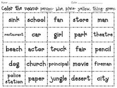 different noun activities :)