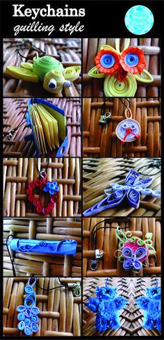 Handmade quilling keychain from https://papergemsboutique.wordpress.com/