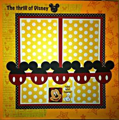 "Premade Scrapbook Pages Disney World Vacation Mickey 12x12"" | eBay"