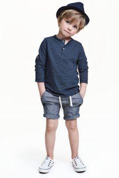 Twill shorts - Dark denim blue - Kids | H&M GB 1
