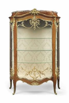 A FINE FRENCH ORMOLU-MOUNTED KINGWOOD VITRINE - BY FRANÇOIS LINKE, INDEX NUMBER 905, THE MOUNTS DESIGNED BY LEON MESSAGE, PARIS, CIRCA 1900