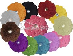 The New Peony Flower Hair Clip - 16 colors!