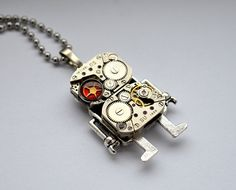 Robot  pendant original - computer jewerly