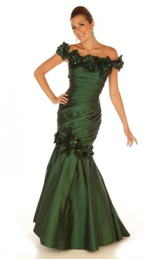 Buy Australia A-line Floor-length Off The Shoulder Dark Green Dress, Ladies dresses and flower girls dresses, Discount Dresses for sale