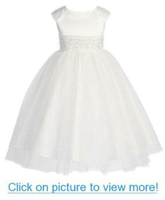 KID Collection Girls Angelic Princess Tulle Flower Girl Pageant Dress