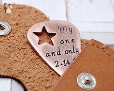 Personalized Guitar Pick Keychain with Cut Out Star - Personalized Metal Guitar Pics - Unisex Gift for Music Lovers - Bridesmaid gifts (*Amazon Partner-Link)