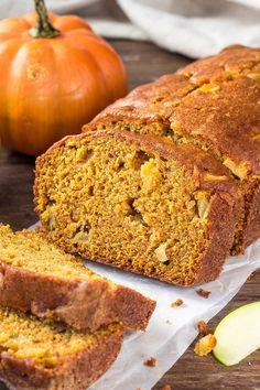 Apple Bread, Pumpkin Bread, Pumpkin Spice, Banana Bread, Apple Recipes, Pumpkin Recipes, Fall Recipes, Bread Recipes, Breakfast Recipes