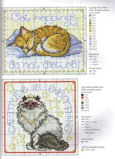 Cross-stitch Cats!
