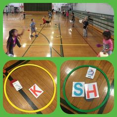Focus: S1.E13.K - throws underhand with opposing foot forward. Bonus: word spelling...3 catches w/out a miss = a letter. #physed Elementary Physical Education, Physical Education Activities, Pe Activities, Health And Physical Education, Literacy Games, Elementary Education, Dementia Activities, Waldorf Education, Brain Breaks Middle School