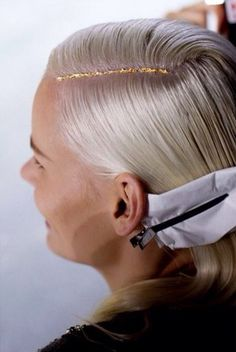 Pin for Later: Putting Gold Leaf on Your Head Is the Ultimate Holiday Hair Hack