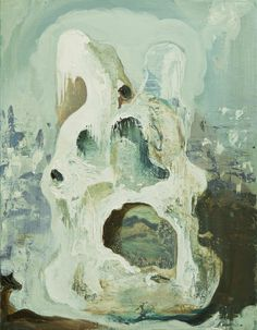 His Topographical Memory was Paradoxical, Sasha Bowles, Painter. Oil on Canvas, Recent work.