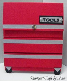 Stampin' Cafe by Lana: Toolbox Gift Card Holder for Father's Day
