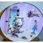 "WHIMISCAL ""YOU'RE HOME"" DACHSHUND GARY PATTERSON PLATE"