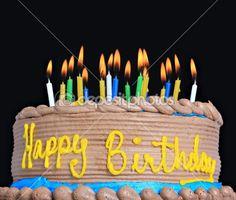 Happy Birthday Cake Stock Photo © Barbara Helgason 11000586