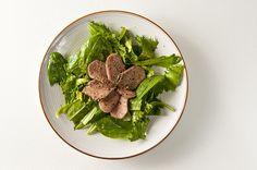 braised venison tongue salad