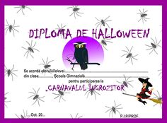 Diplome de Halloween Halloween, Desktop, Club, School, Movie Posters, Carnival, Film Poster, Billboard, Film Posters