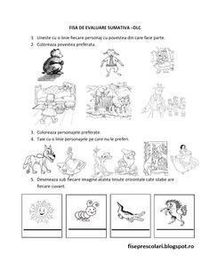 Evaluare sumativa 1 DLC, DS, DOS, DEC Nivel I si II   Fise de lucru - gradinita Kindergarten Worksheets, Preschool Activities, Coloring For Kids, Coloring Pages, Kids Schedule, Winter Crafts For Kids, Stencil Patterns, Math For Kids, Kids Education