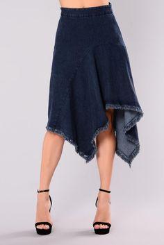Caro Denim Skirt - Medium Indigo