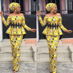 Fantastic Fitted Ankara Skirt and Blouse Styles You Need to Rock Owambe.Fantastic Fitted Ankara Skirt and Blouse Styles You Need to Rock Owambe African Party Dresses, African Print Dresses, African Dress, African Fashion Ankara, Latest African Fashion Dresses, African Print Fashion, Latest Fashion, Women's Fashion, African Attire