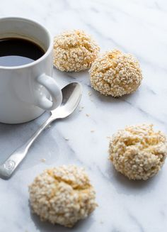 I'll be making these with honey replacing the sugar. They sound so yummy! Sesame Tahini Cookies | www.tasteloveandnourish.com