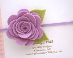 Rosa sentía flor diadema cinta bebé rosa diadema por MyMondaysChild