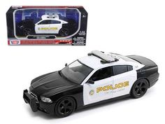 2011 Dodge Charger Pursuit San Gabriel Police Car 1/24 Diecast Car Model by Motormax