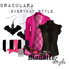 """My outfit for the party. """"Monster Style : Draculara"""" by missm26 on Polyvore"""