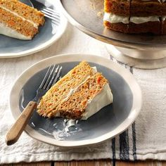 Spiced Carrot Cake Recipe -My mom made this carrot cake once for my birthday because carrot cake is her favorite. Turns out, it's my favorite, too! Now when I make it, I love it with lots of spice. The pumpkin pie spice is a shortcut, but you could use a custom blend of cinnamon, ginger, nutmeg and cloves. —Jaris Dykas, Knoxville, Tennessee