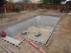 DIY - Inground Pools Kits that are pretty cheap! Building A Swimming Pool, Swimming Pool Construction, Natural Swimming Pools, Diy Pool, Swimming Pools Backyard, Swimming Pool Designs, Inground Pool Diy, Lap Pools, Natural Pools