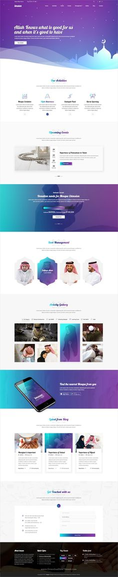 Imaan is a clean and modern design PSD #blogger template for #Islamic style #blogging website download now➩ https://themeforest.net/item/imaan-islamic-psd-template/19676533?ref=Datasata