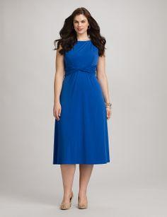 Plus Size | Dresses | Plus Size Twist Waist Dress