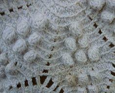 popcorn motif bedspread  Heirloom Heavy Popcorn Pattern Hand Crochet ...