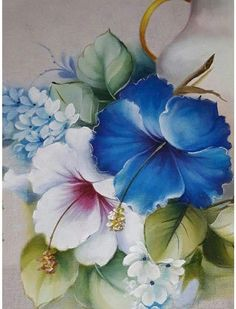 Painting Patterns, Fabric Painting, Diy Painting, Painting & Drawing, Watercolor Paintings, Flower Painting Canvas, Painting Flowers, Watercolour, Fabric Paint Designs
