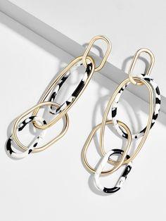 Thumbnail  0 for Juliza Resin Linked Hoop Earrings Gioielli Unici a6da27b72452