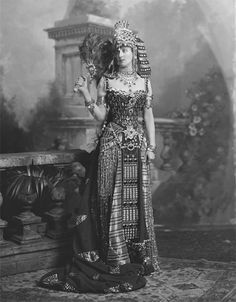 Mrs. Arthur Paget, later Lady Paget (1919) as Cleopatra.  For the Ball, as one of three Cleopatras commissioned one of the most spectacular and certainly expensive costumes from Worth of Paris at a reputed cost over $6,000.