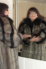 Transvestite in fur