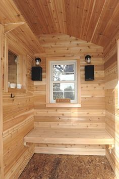 Tips to Think About for Your Own Authentic Sauna Build Building A Sauna, Natural Swimming Pools, Natural Pools, Sauna Design, Outdoor Sauna, Backyard Buildings, Wood Cladding, Diy Bathroom Decor, Bathroom Storage