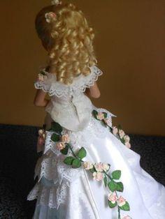 Ellowyne Wilde Victorian Wedding Ensemble with  2nd Ball  Gown  Bodice, by pollyswardrobe4dolls via eBay, SOLD 7/19/14 $303.98