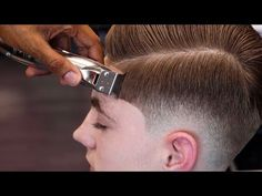 HAIRCUT TUTORIAL: MENS COMBOVER | BLOW DRY & STYLE - YouTube