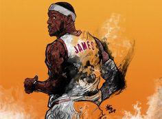 LeBron James 'Back Home' Illustration