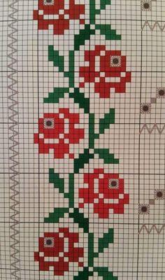 Cross Stitch Bookmarks, Cross Stitch Rose, Cross Stitch Borders, Cross Stitch Flowers, Cross Stitch Designs, Cross Stitching, Cross Stitch Embroidery, Cross Stitch Patterns, Broderie Bargello