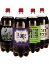 "Shock your Halloween beverage service! Shocktails Halloween Labels feature distinct Halloween designs...unique drink name such as ""BONE JUICE"", ""SPIDER CIDER"".  Gouliscious!!!!!!"