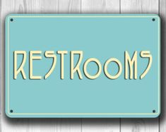 RESTROOM SIGN Restroom Signs Toilet Sign Male by ClassicMetalSigns