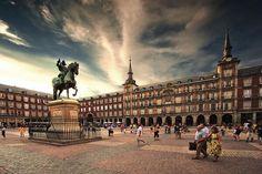 Plaza Mayor, Madrid, España.