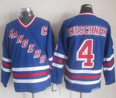 """$34.88 at """"MaryJersey""""(maryjerseyelway@gmail.com) Rangers 4 Ron Greschner Blue CCM Heroes Of Hockey Alumni Stitched NHL Jersey"""